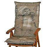 Luxus Auflagen für Hochlehner 9 cm dick mit Kopfkissen Miami 40260-620 (ohne Stuhl)
