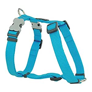 Red Dingo Plain Turquoise Dog Harness 12mm x (Neck: 25-39cm / Body 30-44cm)