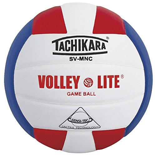 H/ROY volley-lite Mikrofaser Composite Leder Volleyball, Scarlet/Weiß/Blau ()