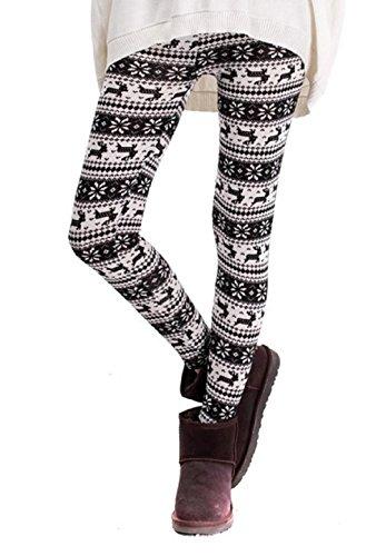 Damen Leggings Hot Fantasy weiß und schwarz Christmas Christmas Idea Geschenk