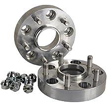 inkl T/ÜV-Teilegutachten Spurverbreiterung Aluminium 4 St/ück 30 mm pro Scheibe // 60 mm pro Achse