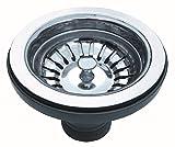 Küchenspüle Abflussstopp mit Sieb. für 90mm Loch. Bodenventil/ Sieb: Edelstahl (A2 DE)