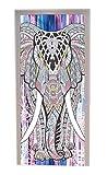A.Monamour Pegatinas De Pared Indio Hippie Mandala Elefante Tribu Tatuaje Patrón Imprimir...