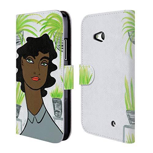 Head Case Designs Offizielle Amanda Laurel Atkins Pflanze 3 Ladies 2 Brieftasche Handyhülle aus Leder für Microsoft Lumia 640 / Dual SIM