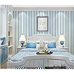 Papel Pintado Pared Tejido No Tejido Moderno Minimalista Rayas Verticales Mediterráneas Habitación Infantil Elegante Diseño Para Corredor Dormitorio Salon Fondo De La Tv Decoracion 0.53X10M/Rollo
