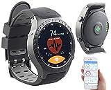 Newgen Medicals Handyuhren: GPS-Handy-Uhr & Smartwatch für iOS & Android, Bluetooth, Herzfrequenz (Smartwatch Armband-Uhren, Bluetooth)