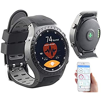Newgen Medicals Smartwatch SIM GPS: GPS-Handy-Uhr