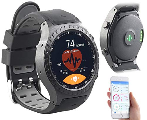 Newgen Medicals Handyuhr: GPS-Handy-Uhr & Smartwatch für iOS & Android, Bluetooth, Herzfrequenz (Smartwatch SIM GPS)