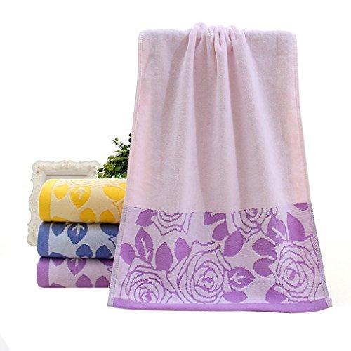 Preisvergleich Produktbild Sunlera Cut Pile Cotton-Rosen-Blumen-Gesichts-Tuch-Strand Bad saugfähig trocknendes Tuch