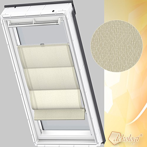 Preisvergleich Produktbild Orignal VELUX Wechselstoff für Raffrollos ZHB Y47 6509 / Farbe : Dekor Sand/Weiß / Fenstergröße : Y47 / Fenstertypen : VU, VL, VKU _30166