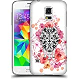 Official Monika Strigel Lion Animals And Flowers Hard Back Case for Samsung Galaxy S5 mini