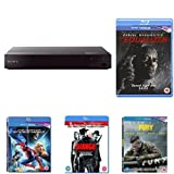 Sony BDP-S6700 Blu-Ray DVD Player with Five Action-Pack Films Bundle