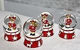 4 x Schneekugel Elch Schnee Weihnachtselch 6cm x 4cm