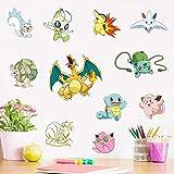 Stickers muraux Pokémon Pokémon Chambre d'enfant Stickers muraux Autocollant simple Pikachu dessin animé