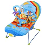 Eléctrica Mecedora para Bebés,Hamaca Vibradora y Musical para Bebés(arcoíris)