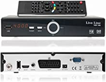 Live Line HD 1001HDTV-Receptor satélite digital (HDTV, DVB-S2, HDMI, SCART, USB 2.0, Full HD 1080p) [Inevitable]-Negro