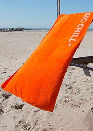 S< telo mare con nome – stampa personalizzata – asciugamano da sauna xxl – telo mare 100 x 200 in cotone, 100% cotone, orange, 100 x 200 cm