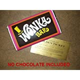 Wonkamania - Envoltorio de tableta de chocolate de Willy Wonka, 200 g, con billete dorado, no incluye chocolate