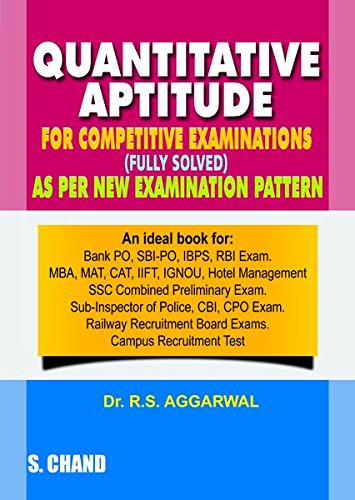Quantitative Aptitude For Competitive Examinations 17th Edition price comparison at Flipkart, Amazon, Crossword, Uread, Bookadda, Landmark, Homeshop18