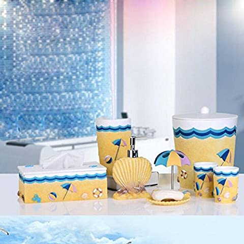 NHD-Resin Bath Suite European Eastern Mediterranean eight-piece home bath bathroom suite-bathroom wedding gifts - Rosa Lucido Gift Box
