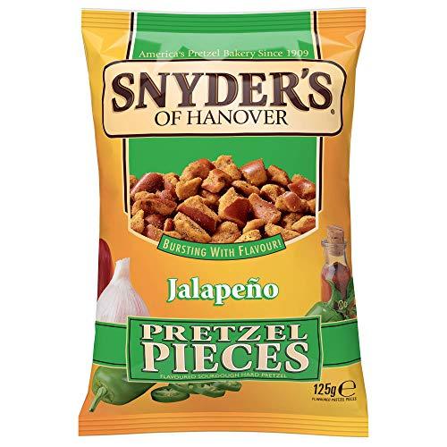 Snyder\'s Pretzel Pieces – Jalapeno, Leckeres Bretzelgebäck – Salziger Knabberspaß - 5er Pack (5x 125 g Tüte)