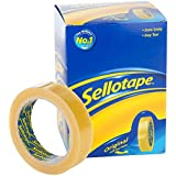6 x Original Golden Tape Rouleau de ruban adhésif Sellotape-Office garniture de 24 mm x 66 m