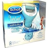 Scholl - Velvet Smooth Express Pedi - Rpe Electrique anti-callosités pour les pieds - Etanche et Rechargeable