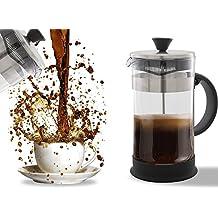 Prensa francesa para café, té expreso, limpieza sencilla, sistema de filtro de calidad, cristal y acero inoxidable, bote resistente al calor y portátil (1 litro, 4 tazas)