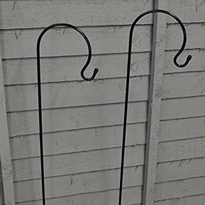 Selections 2 x Shepherd's Crook Hook Stand for Bird Feeders & Candle Lanterns 1m 2