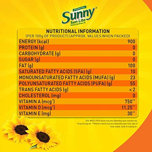Sunny Sunlite Refined Sunflower Oil Pouch, 1L