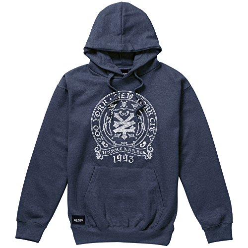 Box, Sudadera con Capucha para Hombre, Blue (Denim Heather Blue Dark Blue), X-Large Zoo York