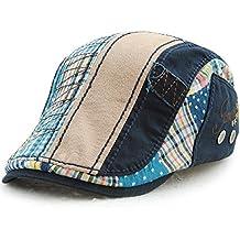 Causal Women Men Newsboy Cabbie Gatsby Flat Cap algodón Golf conducción boina gorro, azul