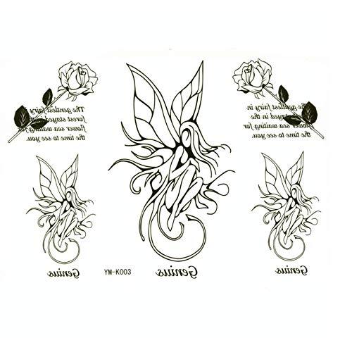 Ruofengpuzi fata fiore impermeabile tatuaggio del tatuaggio adesivi manicotti del tatuaggio femminile tattoo design foil
