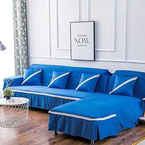 Multi-sofa Schonbezug (Ijxklouim Reine Farbe All-Inclusive Sofa Abdeckung Polyester Fiber Tuch Full Cover Sofa Handtuch Multi-Farbe und Multi-Größe Optional, Maschine waschbar (Farbe : C, größe : 350cm))