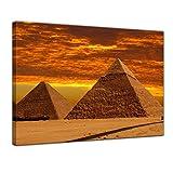 """Bilderdepot24 Leinwandbild """"Cheops Pyramide - Gizeh in Ägypten"""" - 40 x 30 cm - fertig gerahmt, direkt vom Hersteller"""