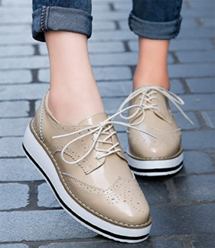 sceglie i pattini delle donne dal fondo pesante scarpe casual scarpe ascensore donne cadono Ms. apricot
