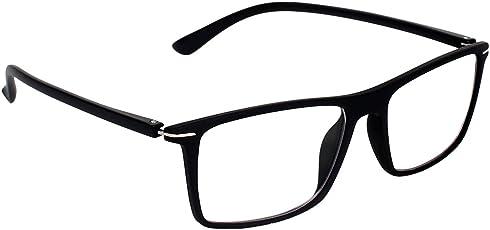 Zyaden Rectangular Plastic Men's Eyewear Frame(FRAME-423|Black)