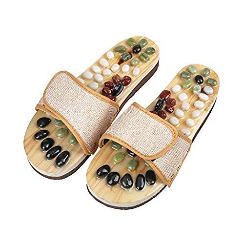 HappyLife Zapatillas de Masaje Zapatillas de Masaje de pies Reflexología Herramientas de Masaje de pies, Zapatillas de Masaje de acupresión Zapatillas para Hombres, Mujeres,XL(Women8.5/Men7.5)