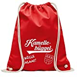 Karneval ♥ KAMELLEBÜGGEL ♥ Köln - Turnbeutel in rot oder weiß (KAMELLEBÜGGEL ♥ Rot)