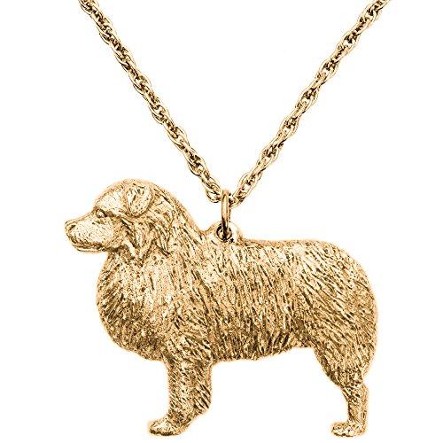 Australian Shepherd Made in UK, Collezione Pendente Collana Artistici Stile Cani