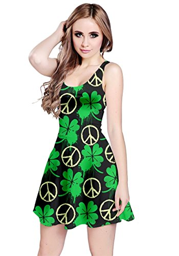 CowCow - Robe - Femme Colourful Gems Neon Green Peace