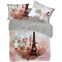 Juego de cama con diseño de París de Pierre Cardin digital 4D P125 de matrimonio