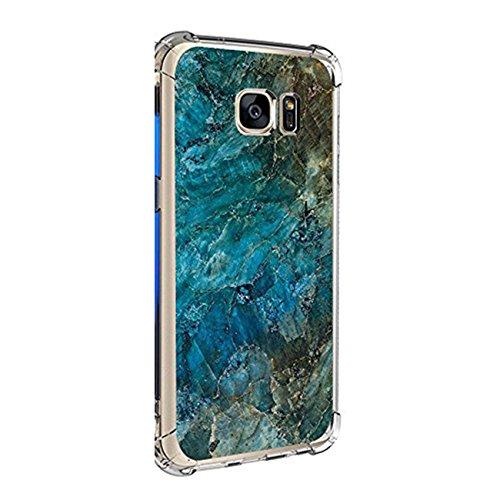 Pacyer Hülle Silikon cover Bumper [Ultra Dünn] Stoßfest Marmor TPU Schutzhülle Anti-Scratch Anti-Rutsch Handyhülle (13, Galaxy S7 Edge) Crystal Mobile