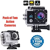 Wi-Fi 4K Waterproof Sports Action Camera - 4K Ultra HD, 16MP,2 Inch LCD Display With Action Camera 1080p 2-Inch Lcd 140 Degree Wide Angle Lens