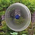 Edelstahl Windspiel - STRUDEL 300 - lichtreflektierend - Durchmesser: 30cm - inkl. Aufhängung und Glaskugel von Colours in Motion - Du und dein Garten