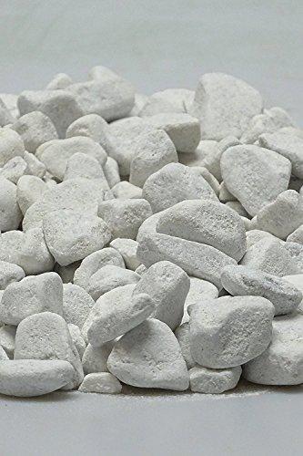 Doubleyou Geovlies & Baustoffe 5 kg Carrara Kies - Marmorkies weiß - Körnung 25-40 mm