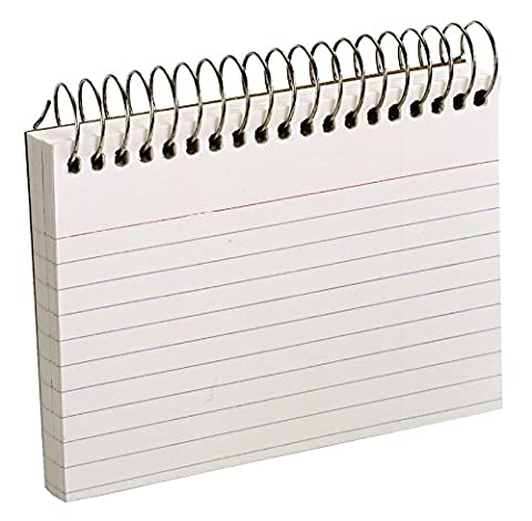 Spiral Index Cards, 3 x 5, White, 50/Pack