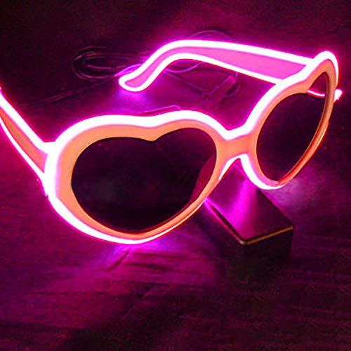 Mitlfuny Karnevalsparty Fancy Festival Zubehör,EL LED Club Party Leuchten Brillen Brill Hell Brill Battery Box (70er Jahre Kostüm Männlich)