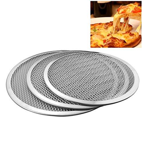 YUANYUAN520 Hot 6/7/8/9/10/11/12/13/16 Zoll Aluminium Verdicken Antihaftnetz Runde Pizza Mesh Pan Backblech Küchenwerkzeug Neu (Color : 16 inch) (Pan 11 Pizza)