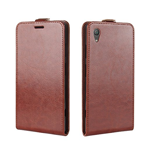 (for Sony Xperia XA1 Plus) Flip Wallet Case Cover and 360 Degree Full Body Protective Bumper Cover, Premium Folio Material - Brown 900 Soft Case